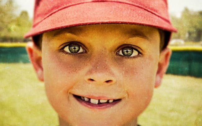 Portrait of Boy, Ethan, Baseball Player