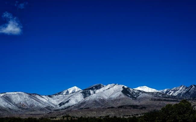 Snow Covered Mountains, Flagstaff, Arizona