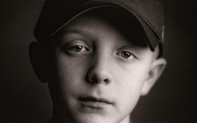 Black and white, Portrait of Boy, Derek, Baseball Player