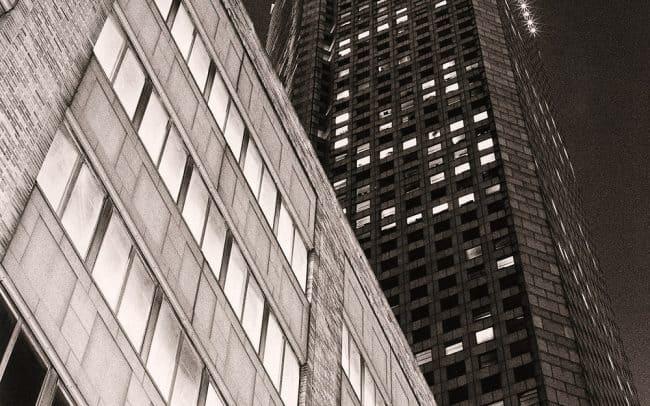 Black and white, Skyscraper, Houston, Texas