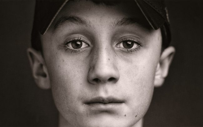 Black and white, Portrait of Boy, Eric, Baseball Player