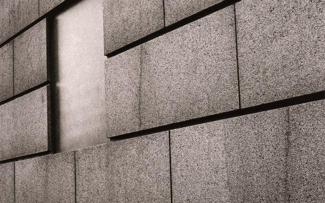 Black and white, Granite Building, Houston, Texas