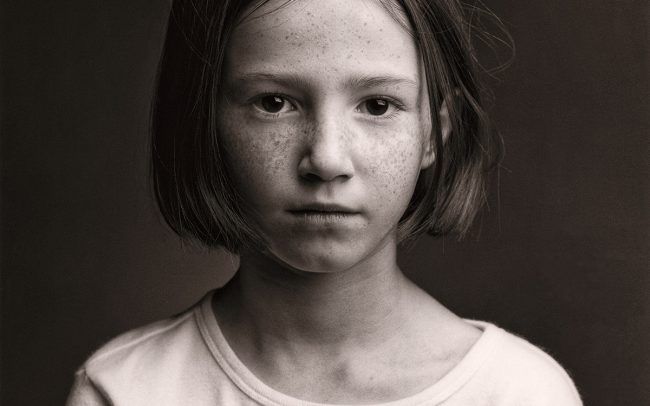 Black and white, Portrait of Girl, Macy