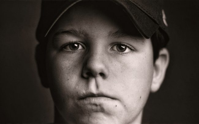 Black and white, Portrait of Boy, Michael, Baseball Player