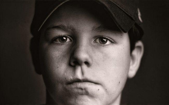 Black and white, Portrait of Boy, Michael, Baseball Player