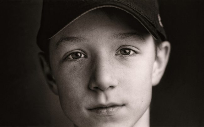 Black and white, Portrait of Boy, Nick, Baseball Player