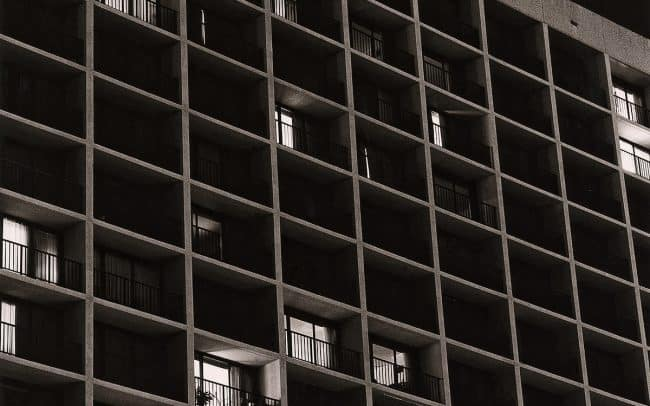 Black and white, Apartment Building, Houston, Texas
