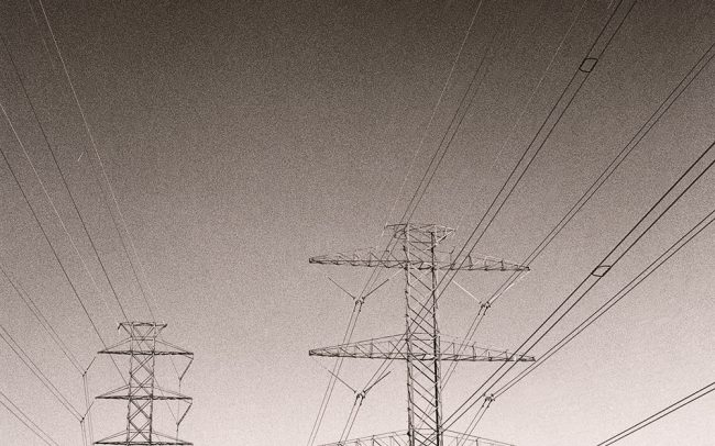 Black and white, Power Lines, Houston, Texas
