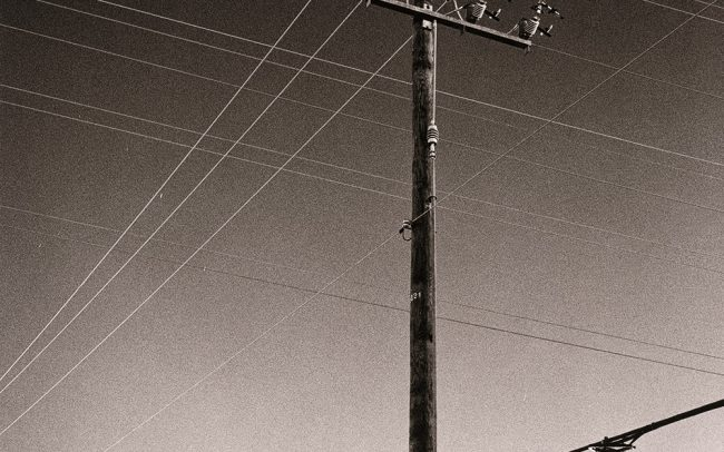 Black and white, Telephone Lines, Houston, Texas