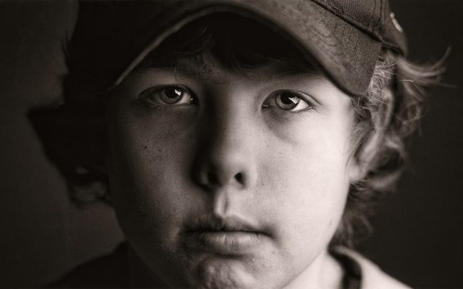 Black and white, Portrait of Boy, Travis, Baseball Player