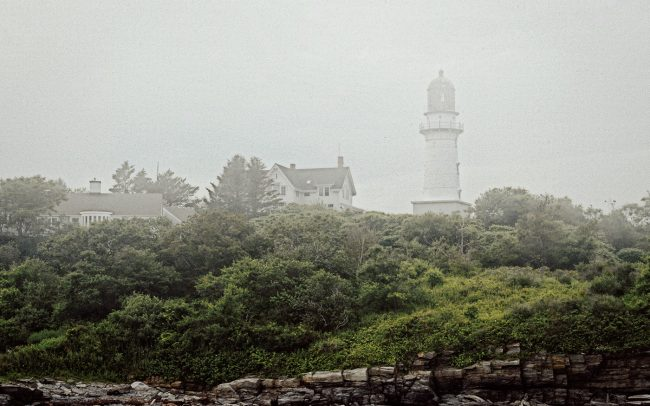 Lighthouse in Fog, Maine