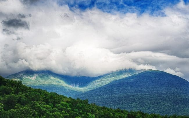 Clouds Covering Mountain, Maine