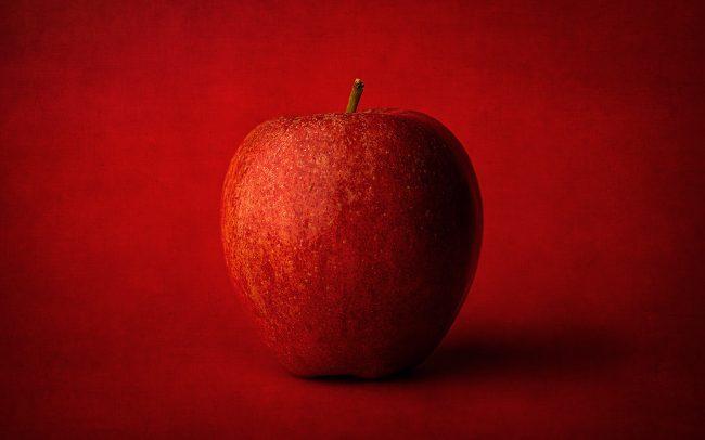 Still Life of Red Apple