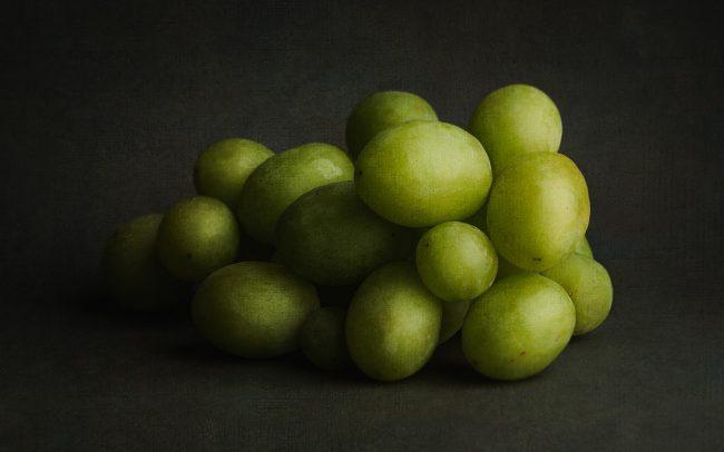 Still Life of Green Grapes